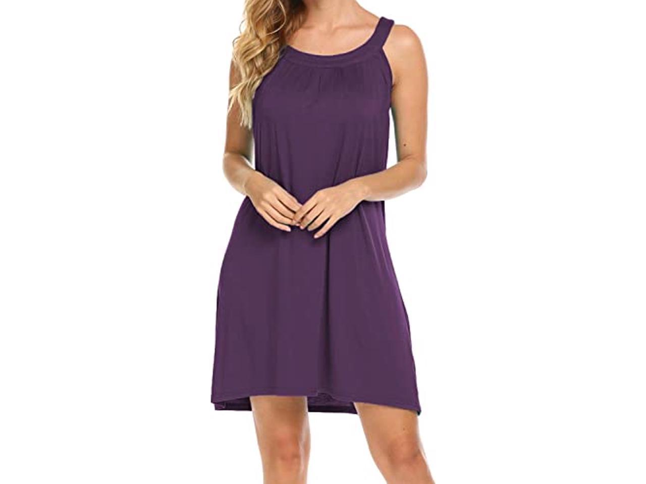 Beach Boho Strappy Sundress  Mini Dress  Beachwear  Lightweight Cotton  Size S