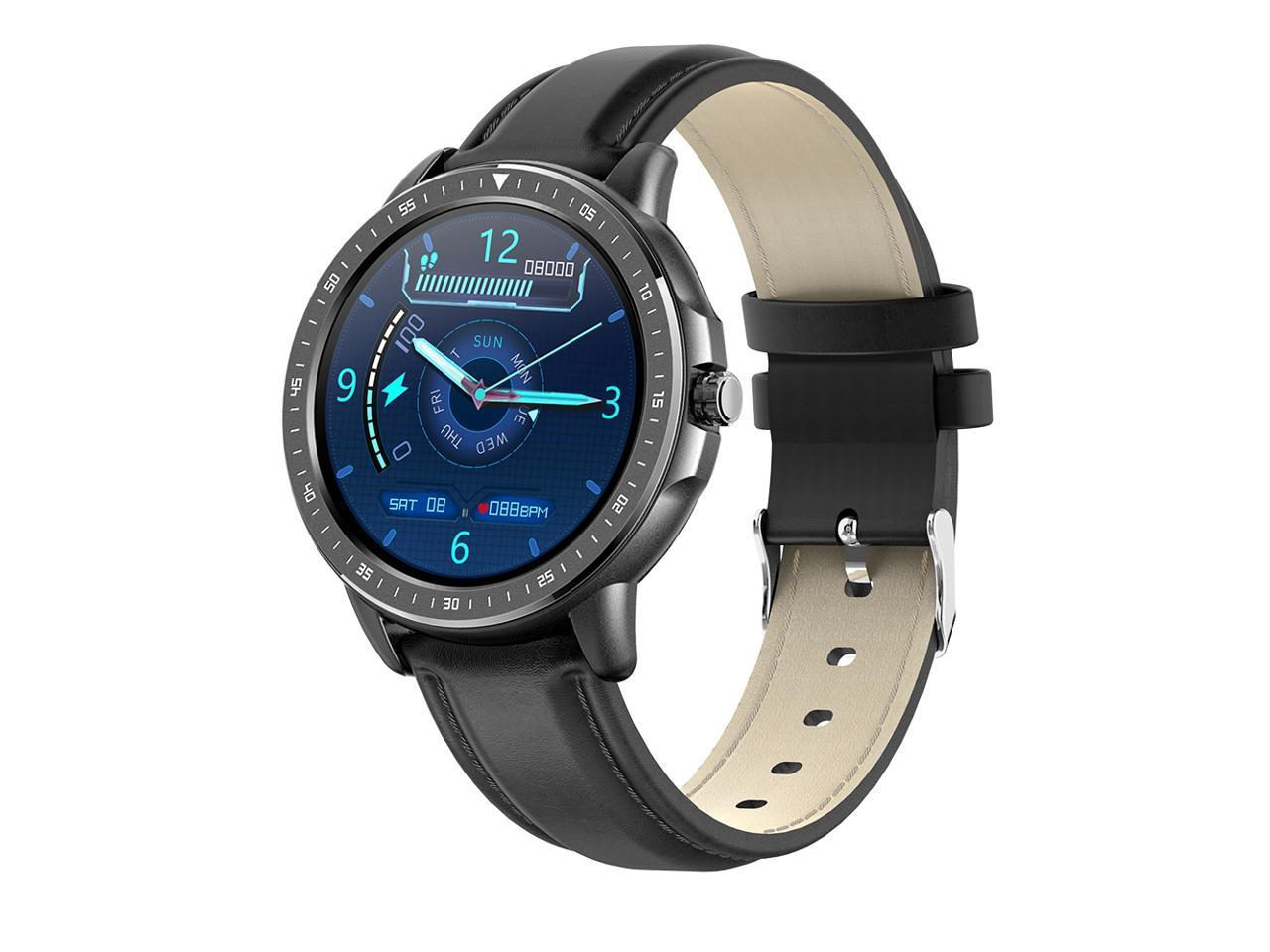 """Smartwatch Band HD Display 1.3/"""" Touch Screen Light Android iOS Series BLACK HQ"""
