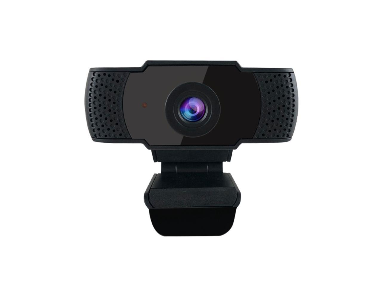 Black 1080P Webcam with Microphone,HD Web Camera for Video Conferencing,USB Webcams with Built-in Dual Microphone for Laptop or Desktop,110-Degree Widescreen,360/° Rotate