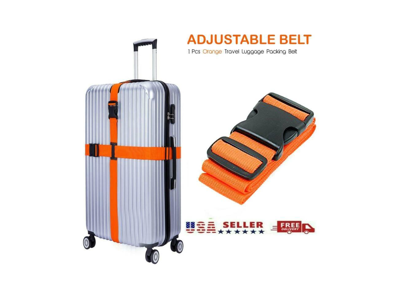 Non-Slip Travel Luggage Straps Buckle Packing Portable Adjustable Suitcase Belts Black Utility Strap with Quick-Release Buckle Travel Bag Accessories CALIDAKA 4pcs Strap Buckle Packing