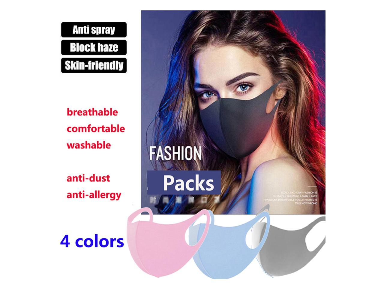 50 PC Disposable Cover Anti Pollution Cover Unisex Fabric Comfortable Disposable Face Cover Anti Dust Face Mouth Cover Windproof Cover