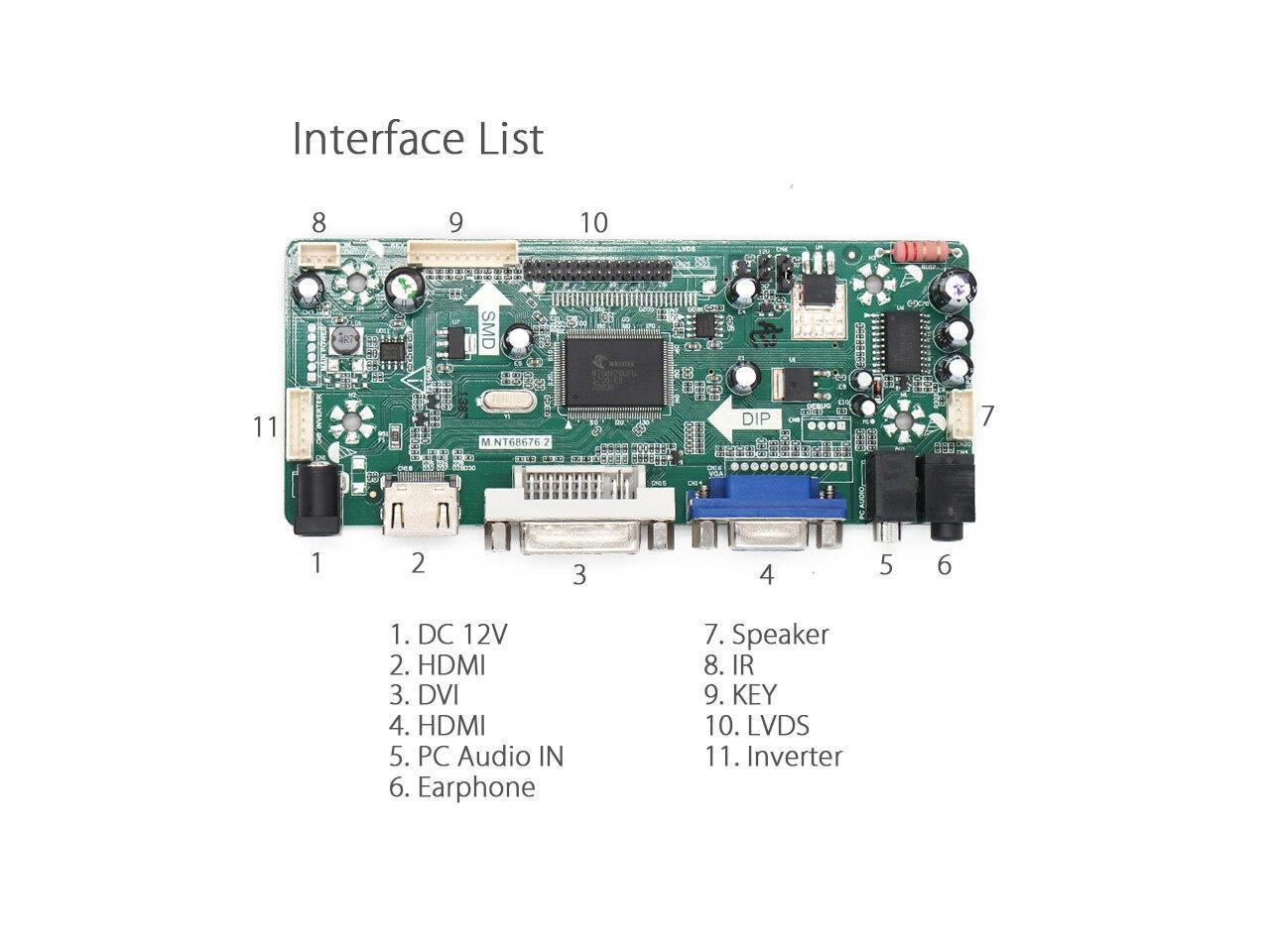 For M215HW01 V.6 LCD Screen Driver Controller Board HDMI+DVI+VGA M.NT68676.2