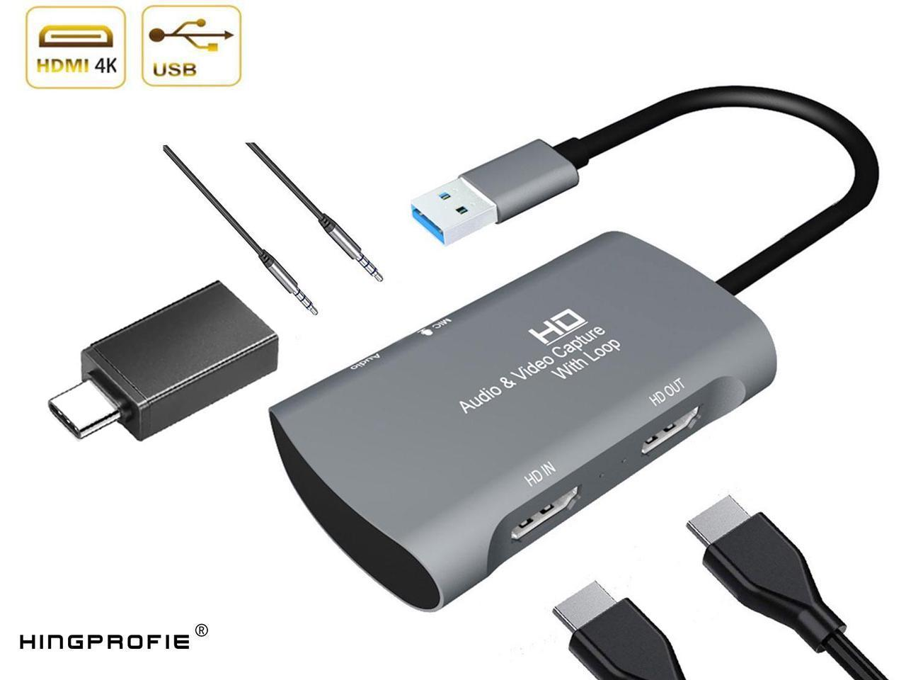 Coffee Capture Card Video Capture Device Game Capture Card USB to HDMI USB Card 4K Camcorder no Cable