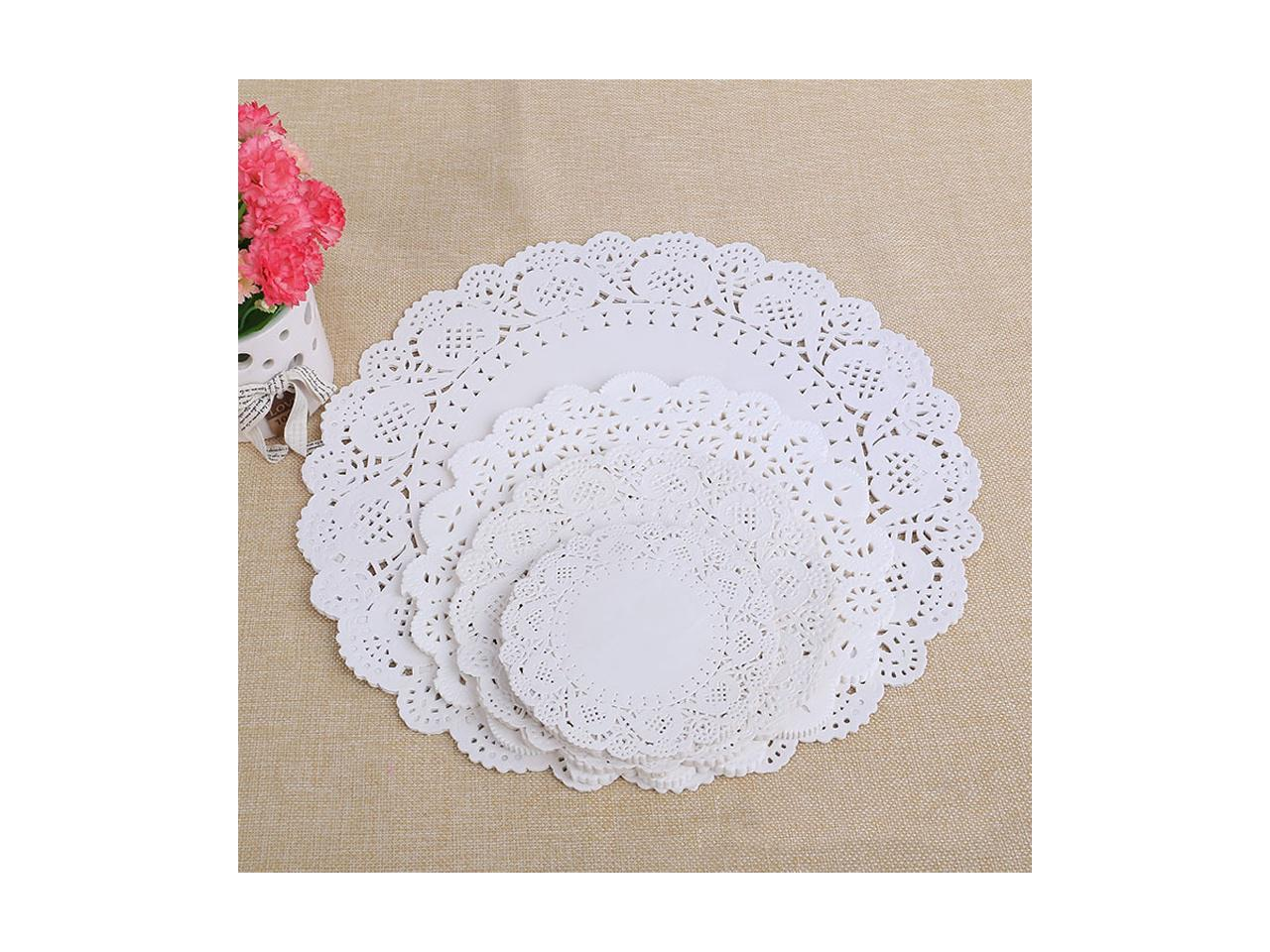 100PCS Round Lace Paper Oil Absorbing Paper Cake Biscuit  Bottom Paper For Party