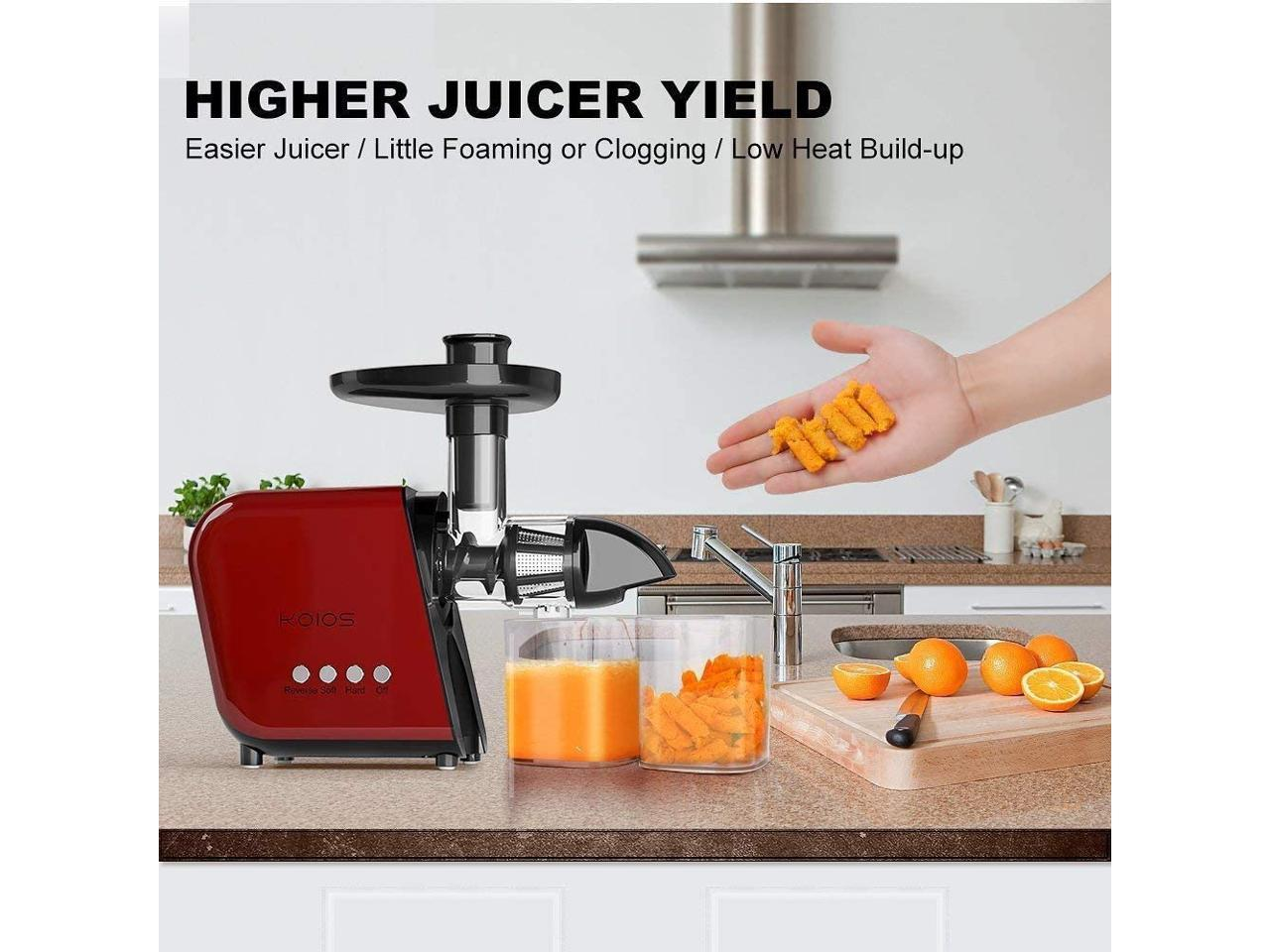 KOIOS Masticating Juicer Slow Juice Extractor Cold Press Fruit Quiet Motor B5100