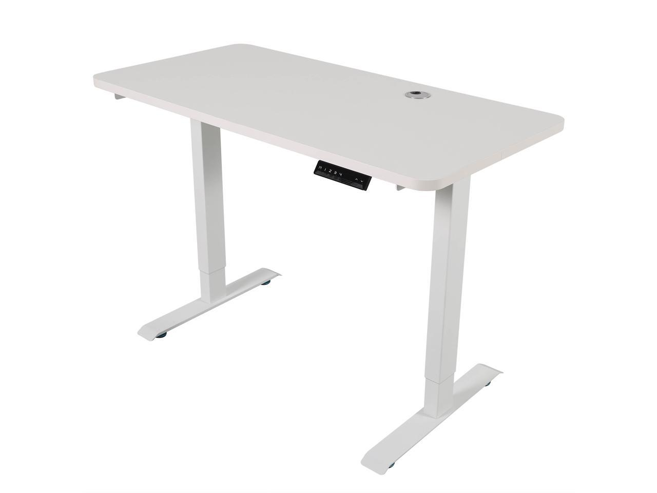 Walsport Electric Height Adjustable Gaming Desk Dual Motor 46 X 24 Inches Home Office Standing Computer Table Workstation Newegg Com