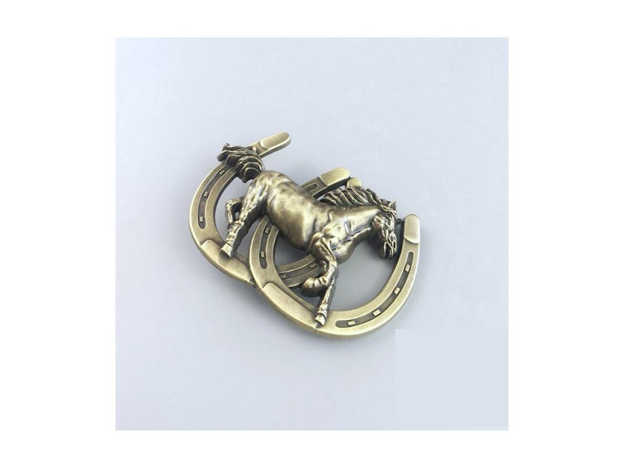 New Vintage Bronze Plated Tiger Guns Belt Buckle also Stock in US