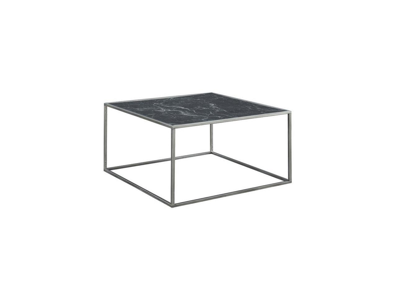 Convenience Concepts 413482mbls Gold Coast Faux Marble Coffee Table In Black Faux Marble Silver Newegg Com