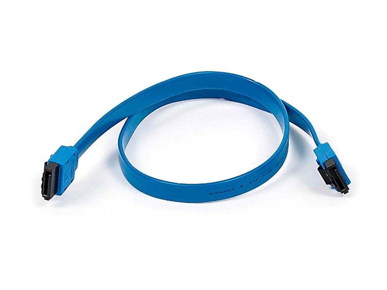 10 Inch CD Driver Monoprice SATA 6Gbps Straight Cable with Locking Latch Red Compatible with SSD SATA HDD CD Writer