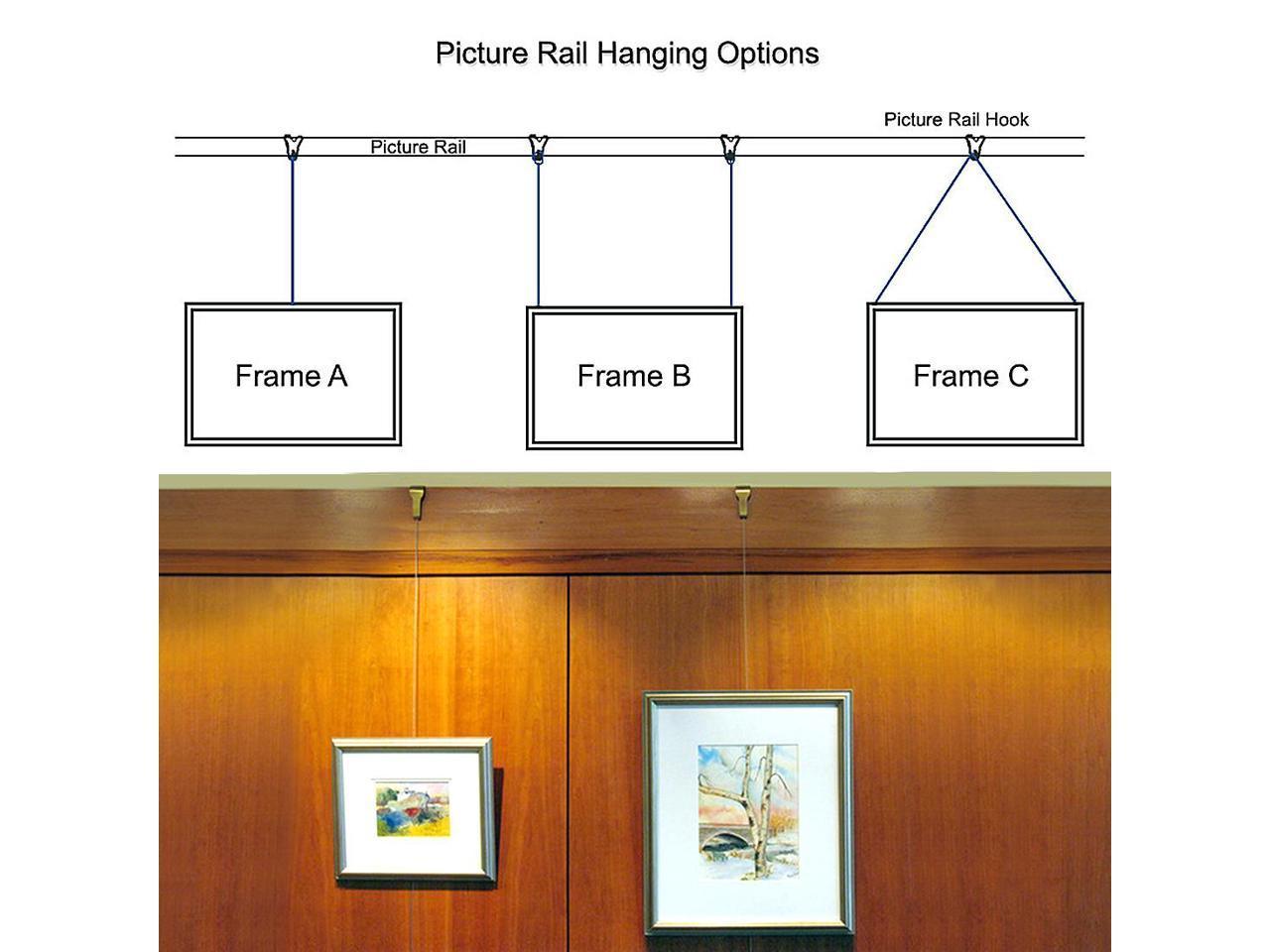 Solid Moulding Picture Hooks Hangers Rail Hanging Hook 52mmx34mm Bronze 20pcs