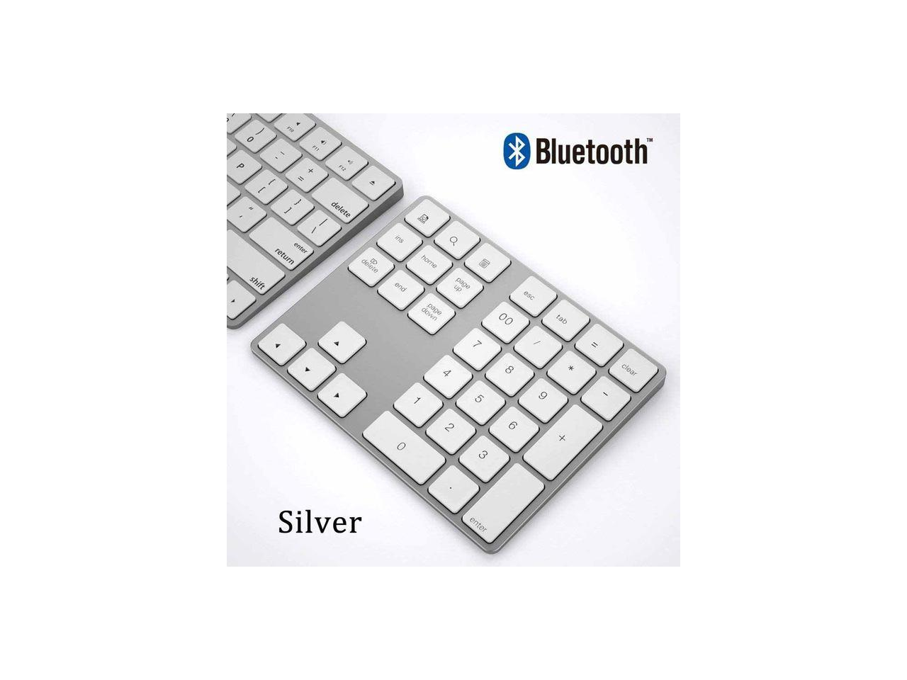 Numeric Keyboard,BT 3.0 Chip 34 Keys Mini Rechargeable Numpad Wireless Numeric Small Keypad,Scissors Foot Key Cap Structure Design,Fast Rebound Speed and Low Latency