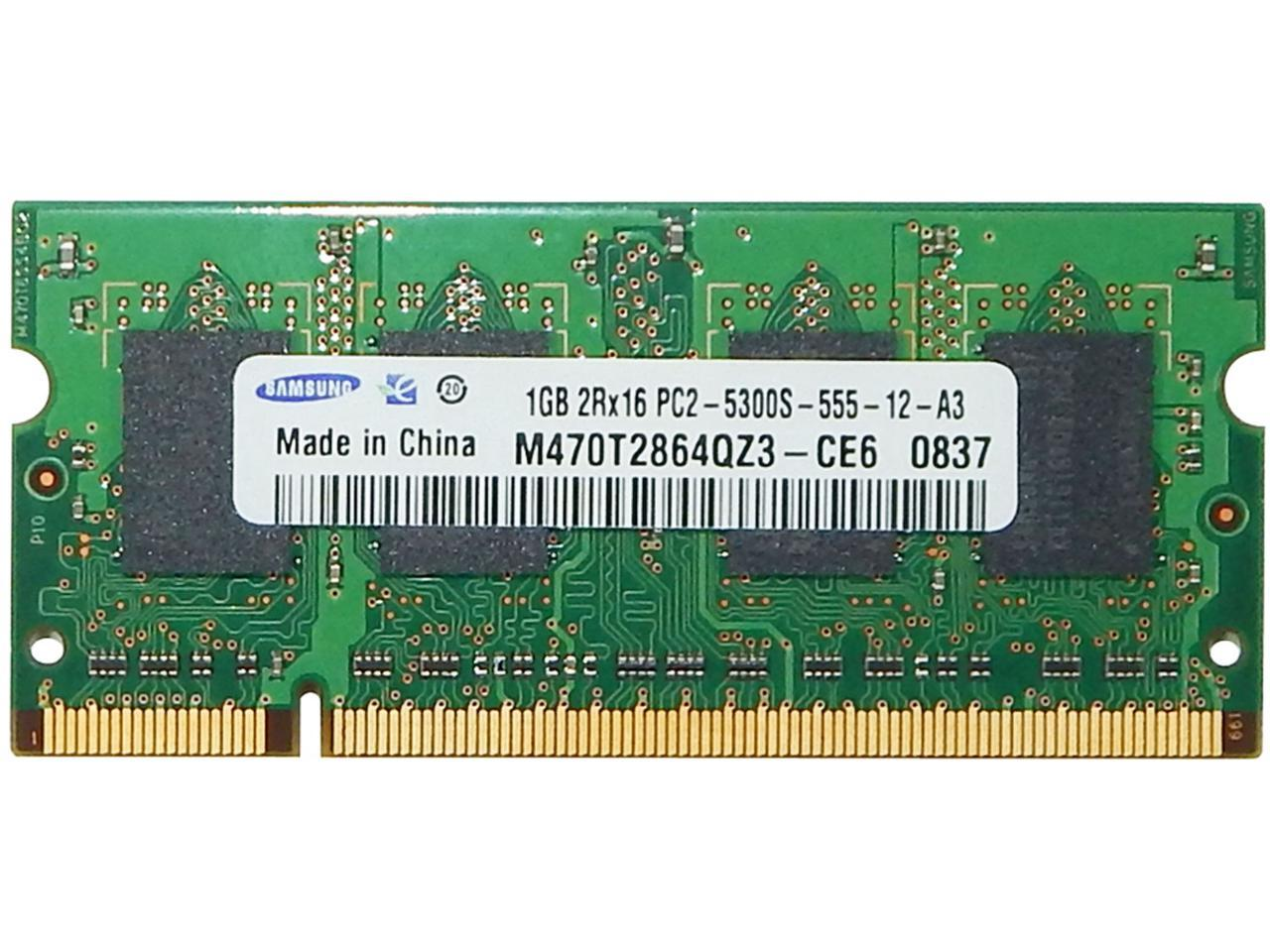 Refurbished Samsung 1gb Pc2 5300s Ddr2 Sodimm M470t2864qz3 Ce6 Newegg Com