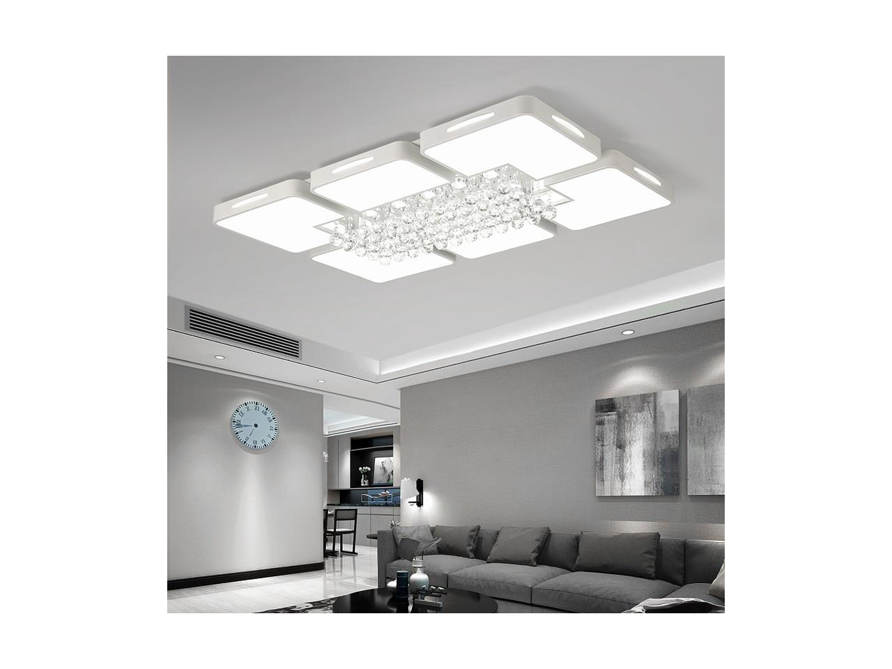 8W Living Room Simple Modern LED Ceiling Lamp Crystal Light