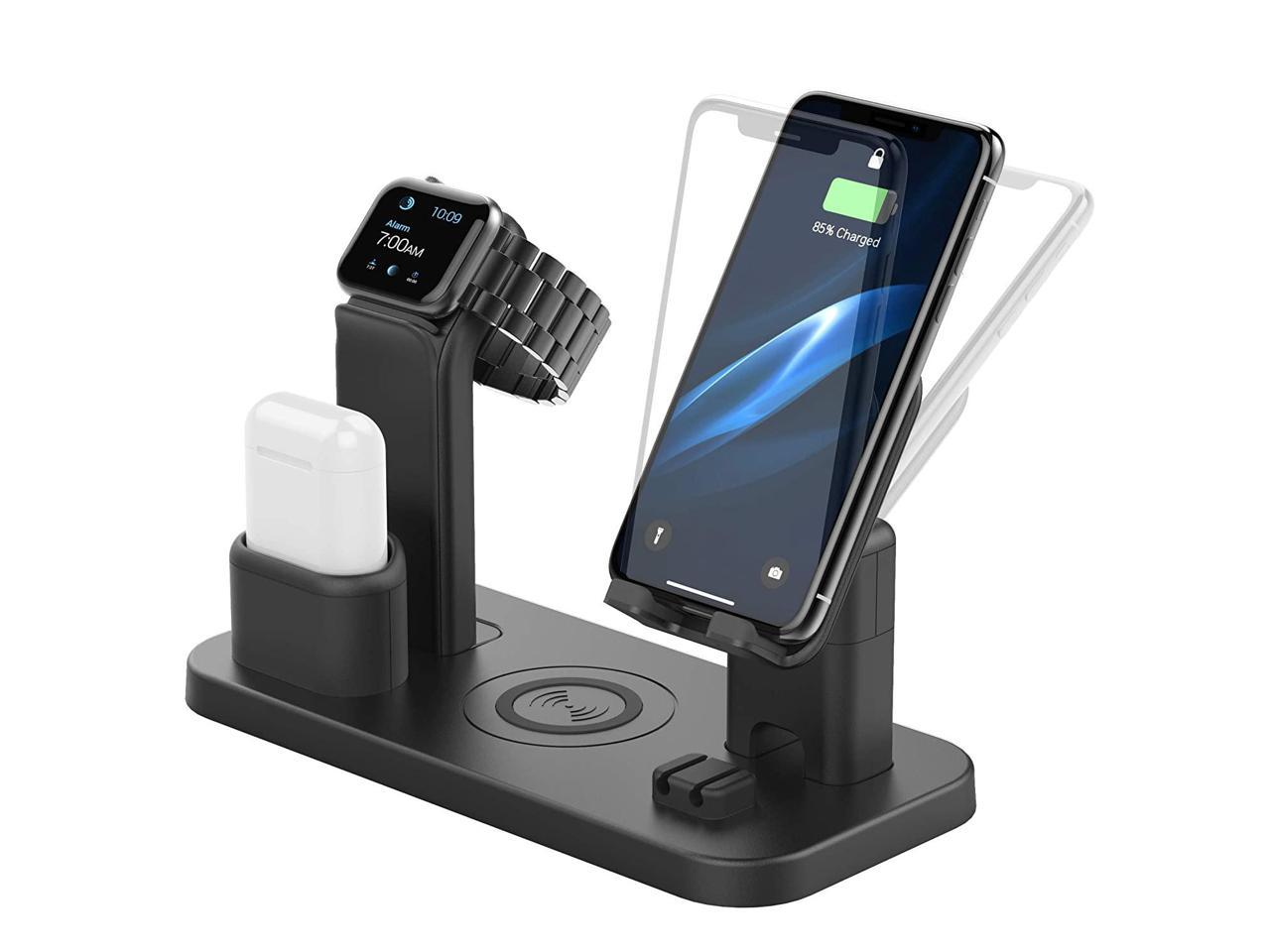 CEREECOO 4 in 1 Wireless Charging Station Dock Compatible with iPhone 11//11pro//Xr//Xs//X//Max//8//8Plus//7//6//6s//5 Apple Watch5//4//3 AirPods Wireless Charger Stand Only iWatch Charger Needed