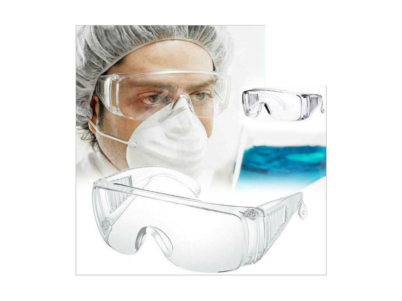 Safety Goggles Over Glasses Lab Work Eye Protection Droplet Clear Lens Lot