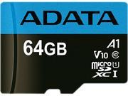 Deals on ADATA 64GB Premier microSDXC UHS-I/Class 10 V10 A1 Memory Card