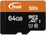 Deals on Team 64GB microSDXC UHS-I/U1 Class 10 Memory Card w/Adapter