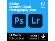 Deals on Adobe Creative Cloud Photography Plan 20GB 1-Yr Subscription Digital