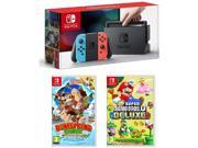 Nintendo Switch Neon System 32GB, Donkey Kong & Super Mario Bros. U Deluxe