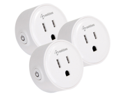 Geekbes YM-WS-1 WiFi Smart Socket Plug-in Module with Amazon Alexa & Google Home Compatibility, 10A - 3 Pack
