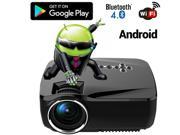 Bluetooth Wireless HD 1080P LED Projector Android 4.4 WIFI Multimedia Projectors Home Cinema LCD Beamer