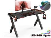 Deals on FUFU&GAGA Ergonomic Gaming Desk 47-in Y Shaped Table