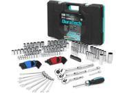 DURATECH 138-Piece Mechanics Tool Set w/90 Tooth Ratchet