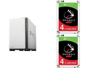 Deals on Synology 2-Bay NAS DiskStation DS220j (Diskless) + 2x Seagate 4TB HDD