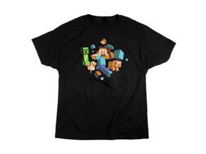 Jinx Minecraft Run Away! Glow in the Dark T-Shirt M