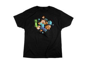 Jinx Minecraft Run Away! Glow in the Dark T-Shirt L