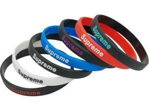 8 Pieces Silicone Bracelet Basketball Sports Wristbands Flexible Hand Band Cuff Bracelets Supreme Slim Bracelet 4 colors