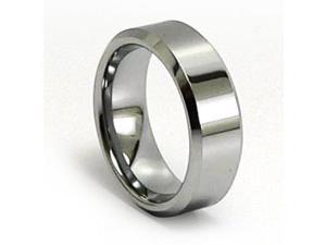 Unisex Tungsten Carbide Ring, Polished, Comfort Fit