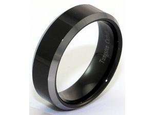 Tungsten Carbide Ring with Plated Black Center