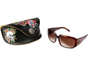 Ed Hardy EHS 053 TIGER MOUTH OPEN Sunglasses - Brown