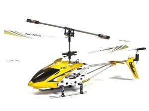 Syma S107 Mini RC Helicopter Metal Series with Gyro (Yellow)