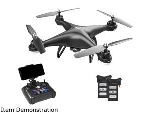 Holy Stone - HS110D WiFi FPV Drone 1080P Camera with 2 Batteries, Black