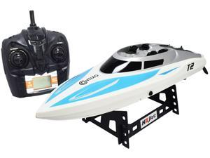 Contixo RC Racing Boat Speedboat Ship T2 | Radio Control Remote Controlled Speed Boat Swimming Pool Toy  - Blue