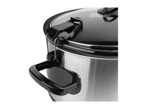 CrockPot 6 Quart Metallic Cooker with Hinged Lid and Little Dipper Food Warmer