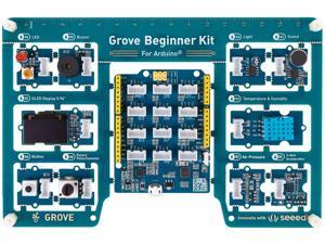 Seeed Studio Arduino Starter Kit for Beginner, Grove Beginner Kit for Arduino All-in-one Arduino UNO Compatible Board with 10 Sensors and 12 Projects
