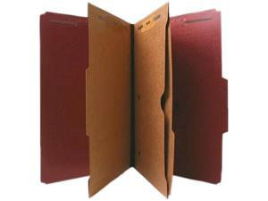 Nature Saver Classification Folder Two-Pocket 2/5 Cut Legal 10/BX Red 95013