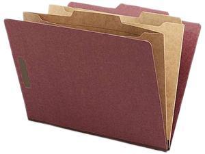Nature Saver NAT95012 Classification Folder- Two-Pocket- .4 Cut- Letter- Red