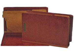 Nature Saver End Tab Classificatn Folders 2 Dividers Lgl 10/BX Red SP17259