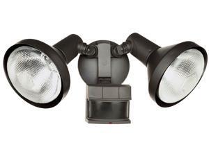 Heathco 2 Bulb 120 Watt Bronze DualBrite Energy Saving 2-Level Motion Flood Light