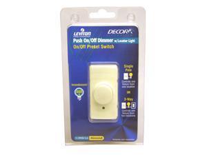 Leviton R03-RPI06-1LA Almond Commercial Grade Incandescent IllumaTech™ Rotary Dimmer