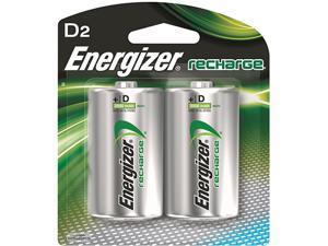 Energizer e2 2500mAh Ni-MH Rechargeable D Batteries - 2-pack
