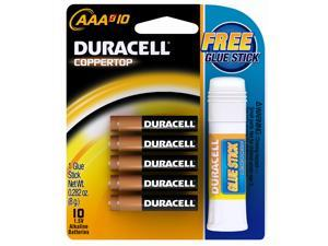 DURACELL CopperTop MN2400 1.5V AAA Alkaline Battery, 10-pack