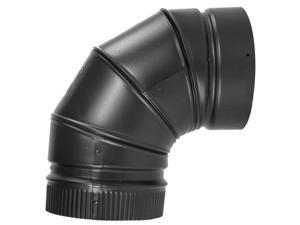 """Selkirk Metalbestos 266230 6"""" 90º Elbow Matte Black"""