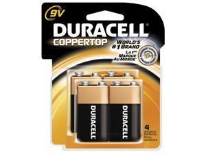 DURACELL CopperTop MN1604 9V Alkaline Battery, 4-pack