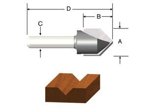 """Vermont American 23119 1/2"""" V Groove Router Bit"""