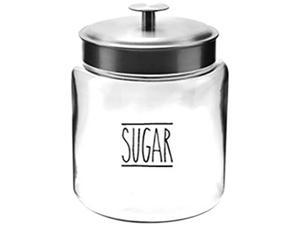 Anchor Hocking 13593AHG18 96 oz. Sugar Montana Jar w SS Liid
